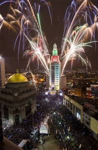 Electric tower ball drop 2012
