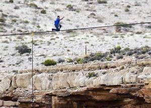 Nik W crossing Grand Canyon